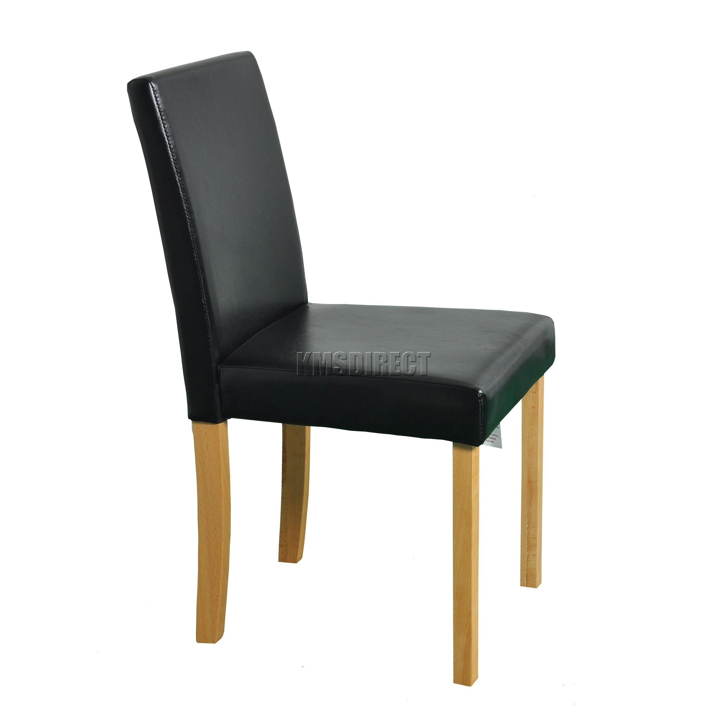 Cosméticos Dañada Madera Comedor mesa y 6 piel sintética PU sillas ...
