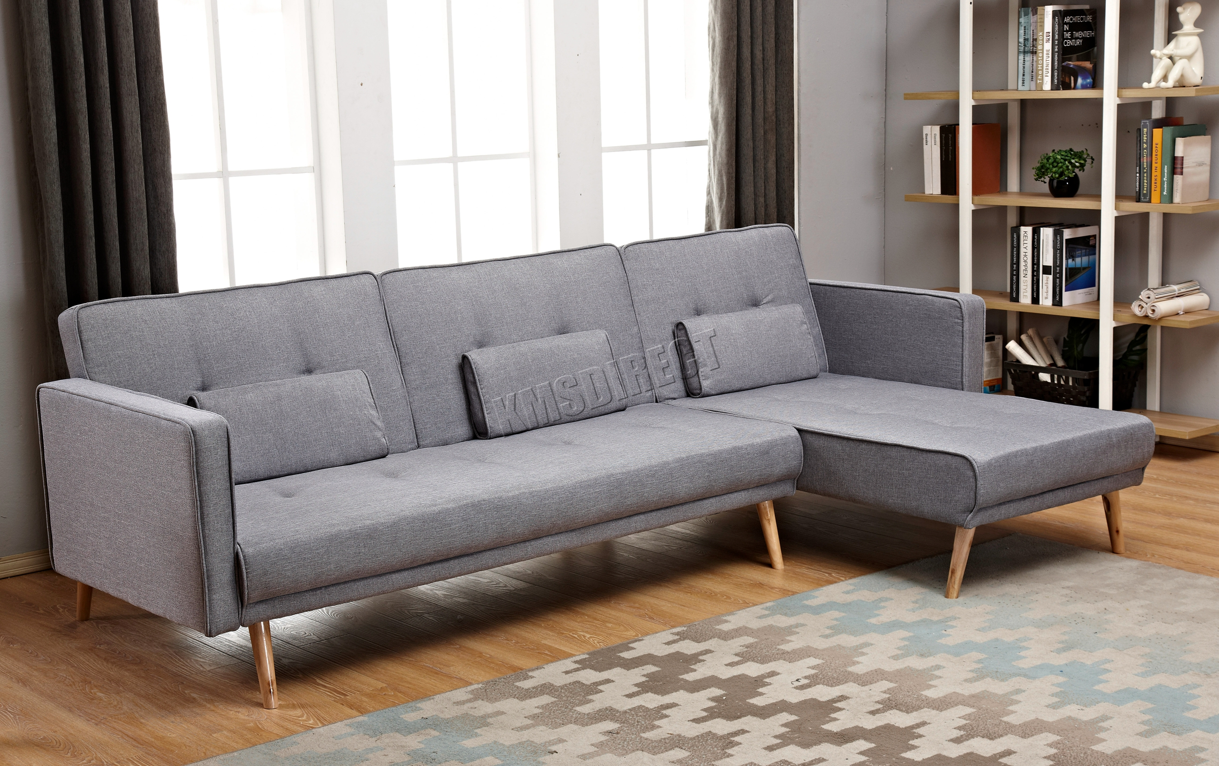 Westwood de lujo forma de l tela sof cama esquina sof 3 4 asientos fsb05 home ebay - Sofa cama esquina ...