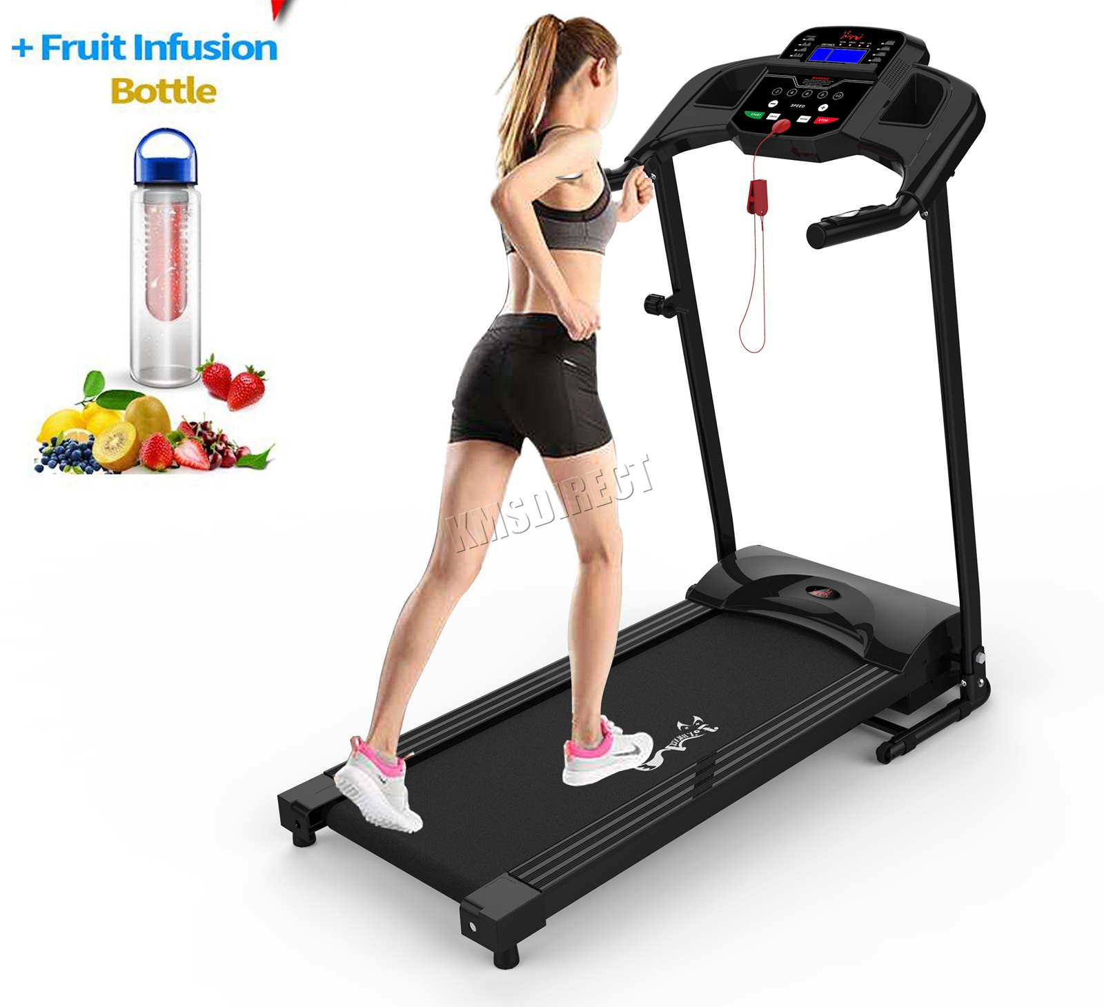 Folding Electric Treadmill Motorised Running Fitness