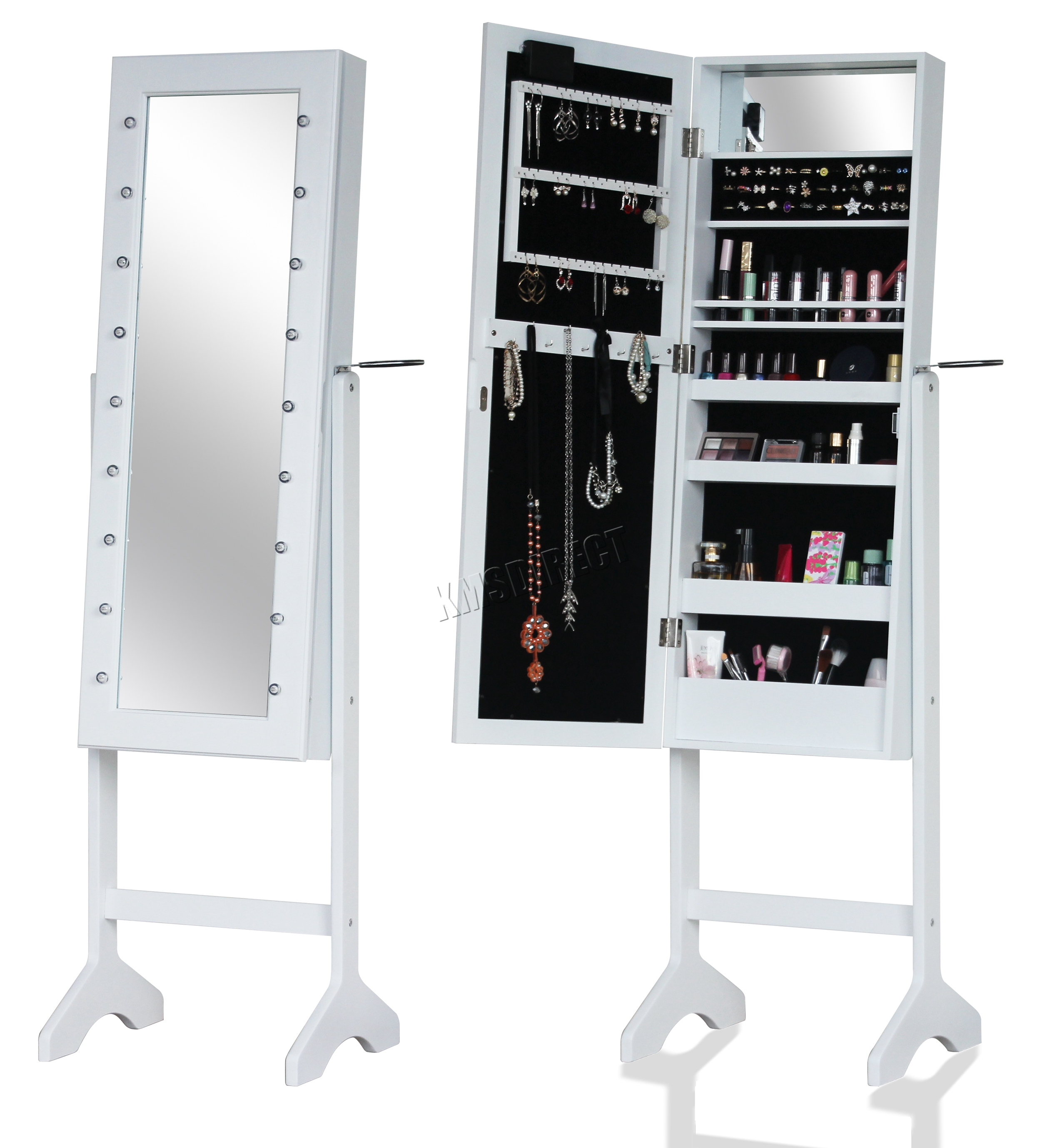 WestWood Standing Mirror – Armoire Make Up Jewelry Box ...