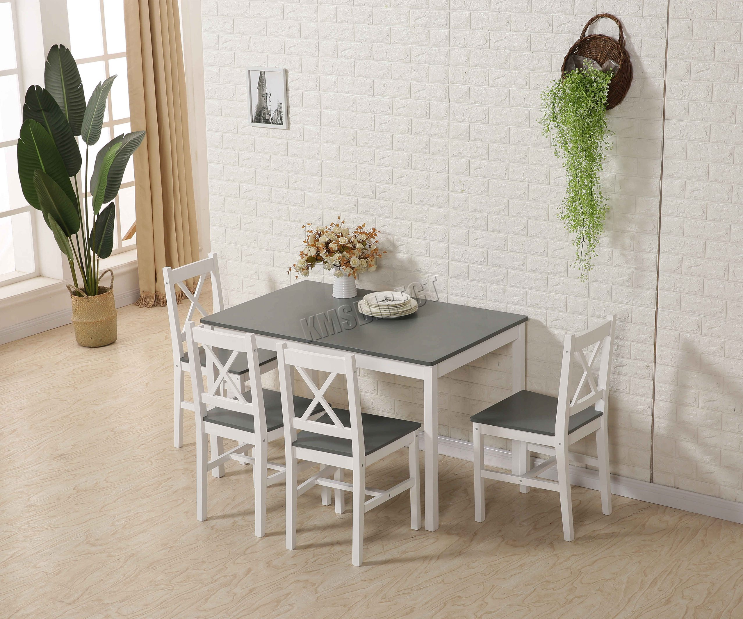 Spare Repair Westwood Solid Wooden Dining Table With 4 Chairs Set