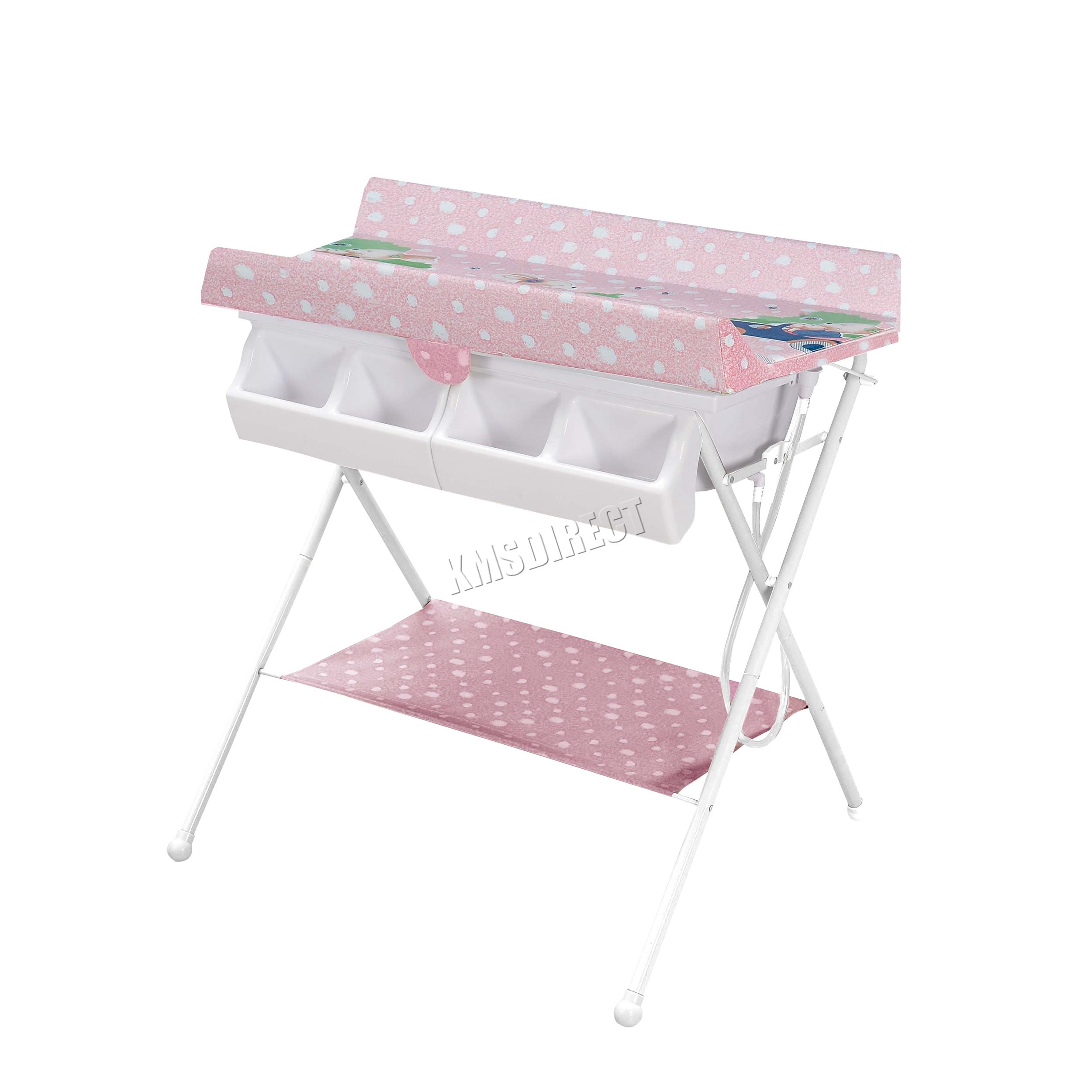 foldable changing table homesfeed sentinel foxhunter foldable baby bath changing table unit infant nursery trays rail bct01