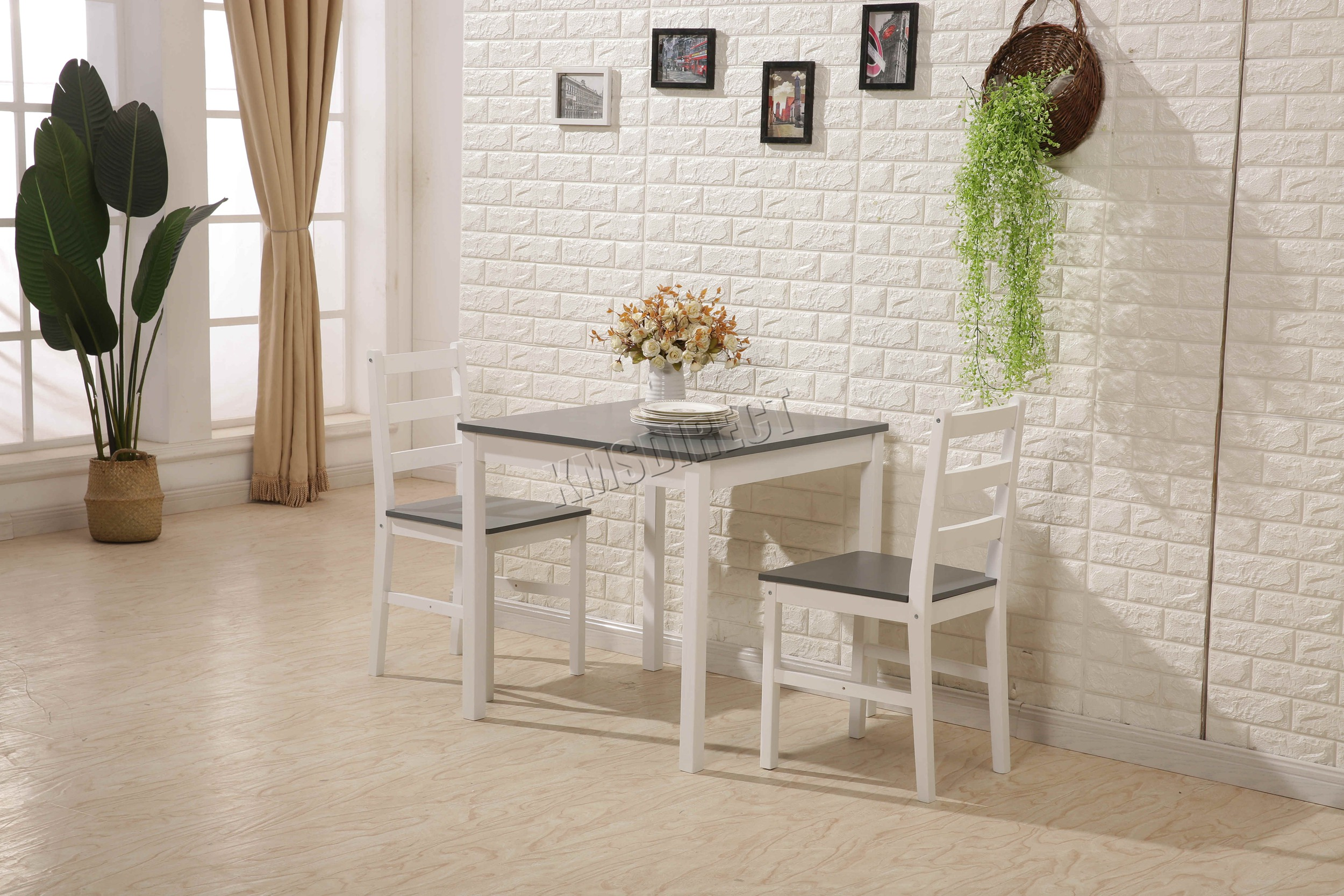Tavolo Con Sedie Cucina.Cosmetic Damaged Westwood Pine Wood Dining Table With 2 Chairs