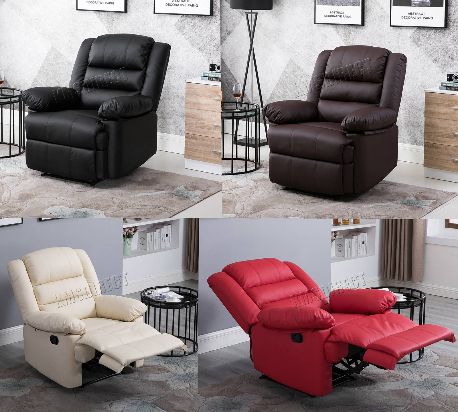 Excellent Details About Westwood Recliner Sofa Chair Armchair Luxury Seater Pu Leather Cinema Rs04 Gmtry Best Dining Table And Chair Ideas Images Gmtryco