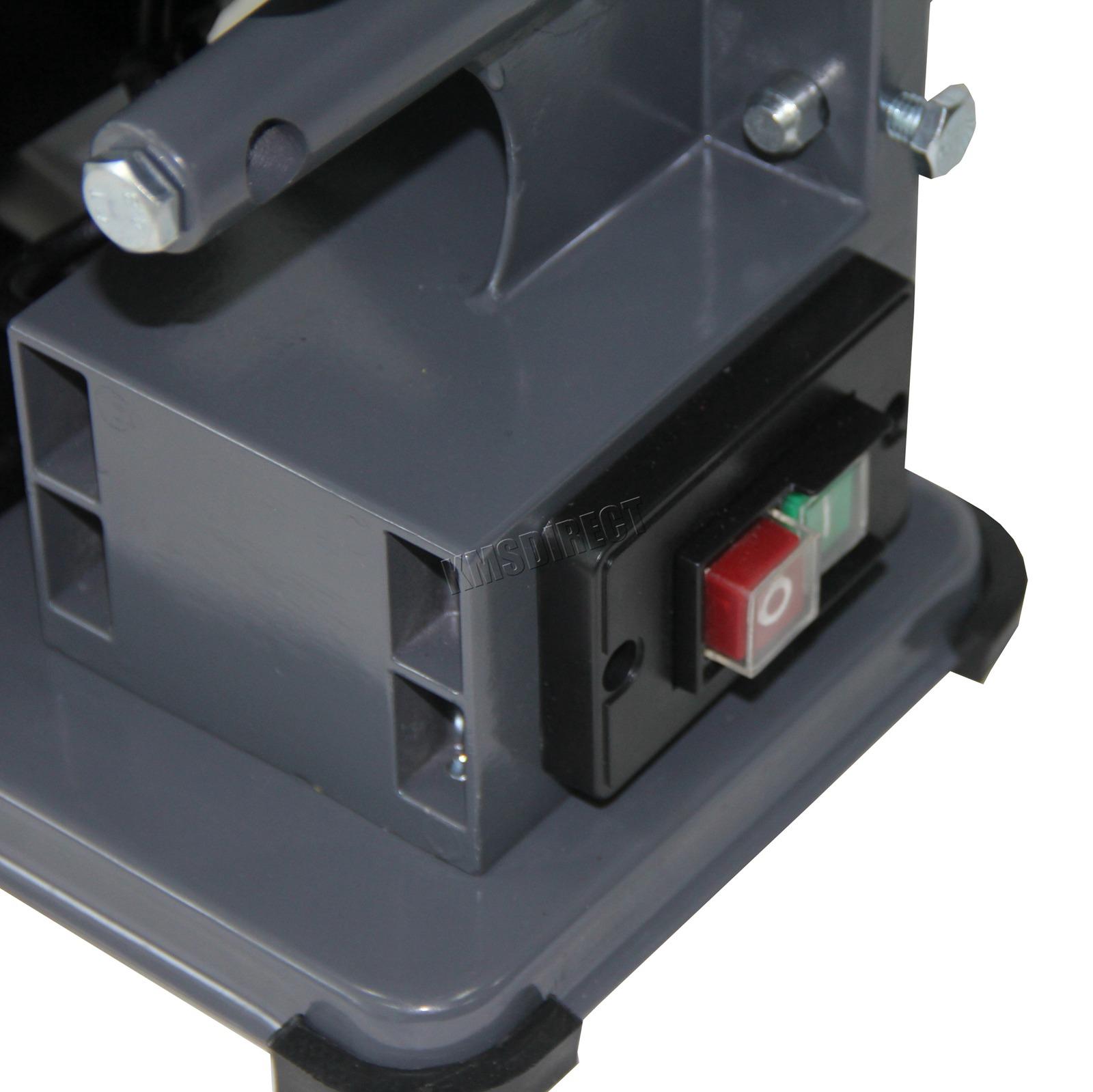 SwitZer Heavy Duty Sander Belt and Disc Bench Linisher Tilting Machine Tool Standing Grinder 375W 230V SBD01 Grey