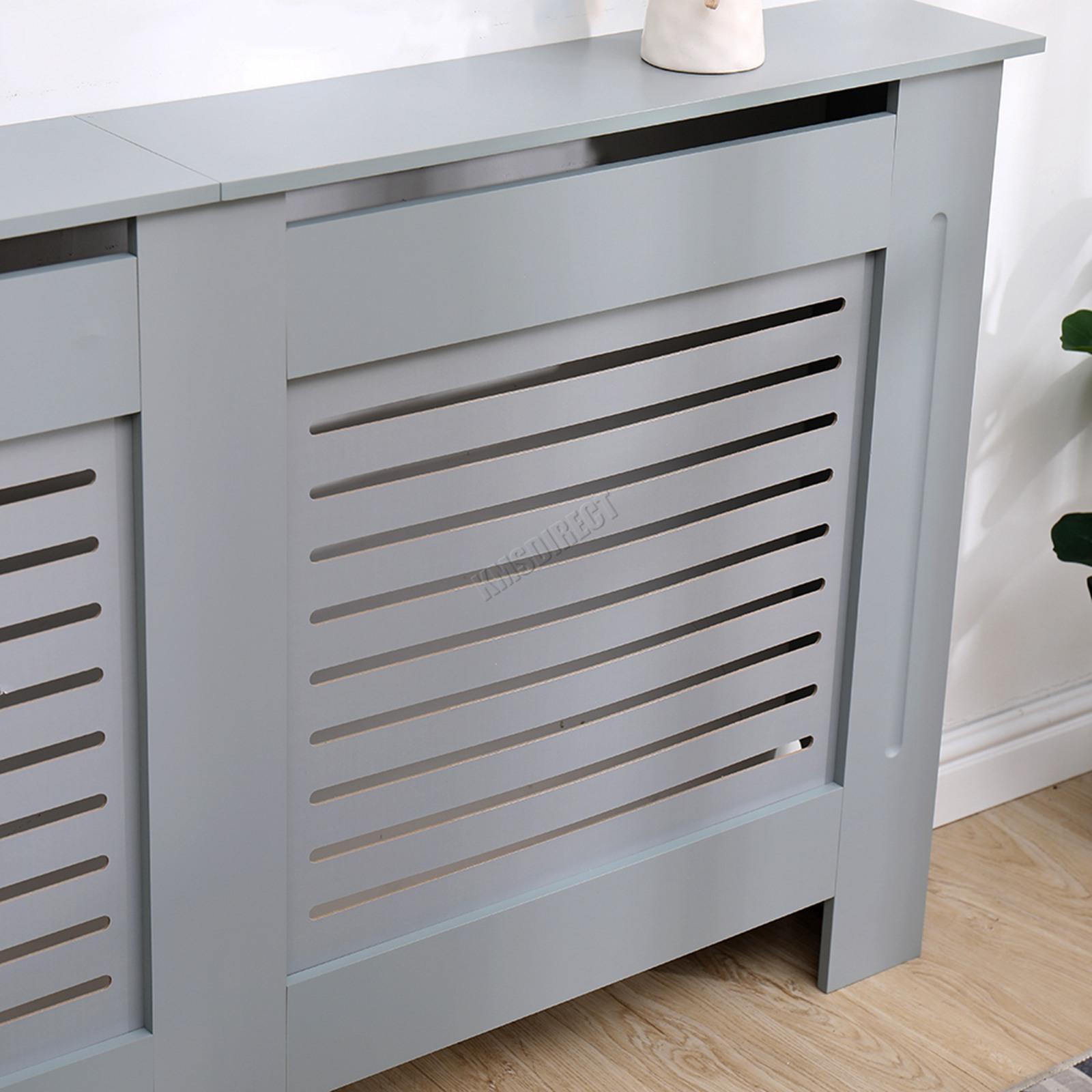 Westwood Radiator Cover White Or Grey Wooden Radiator Wall Shelves Cabinet Ebay