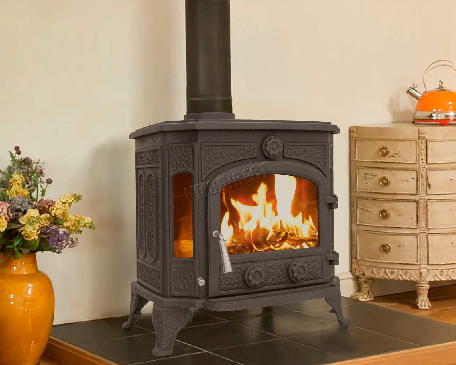 Woodburner Cast Iron Log Burner Multifuel Wood Burning