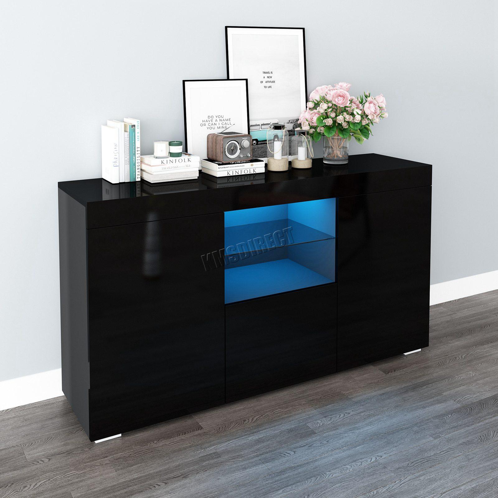 WestWood-PB-High-Gloss-Cabinet-LED-Bookshelf-Sideboard-Cupboard-Home-Unit-PHC03 thumbnail 17