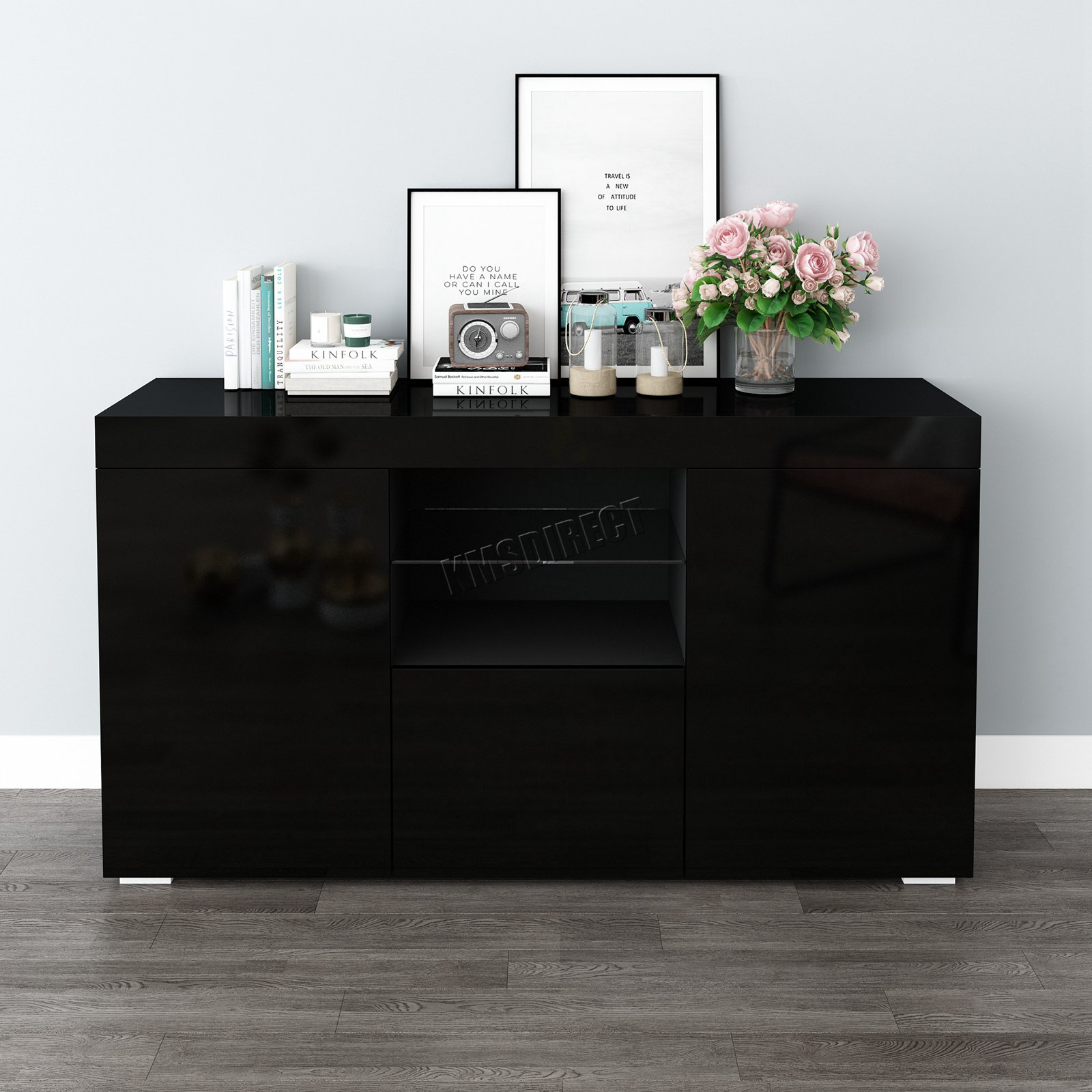 WestWood-PB-High-Gloss-Cabinet-LED-Bookshelf-Sideboard-Cupboard-Home-Unit-PHC03 thumbnail 18