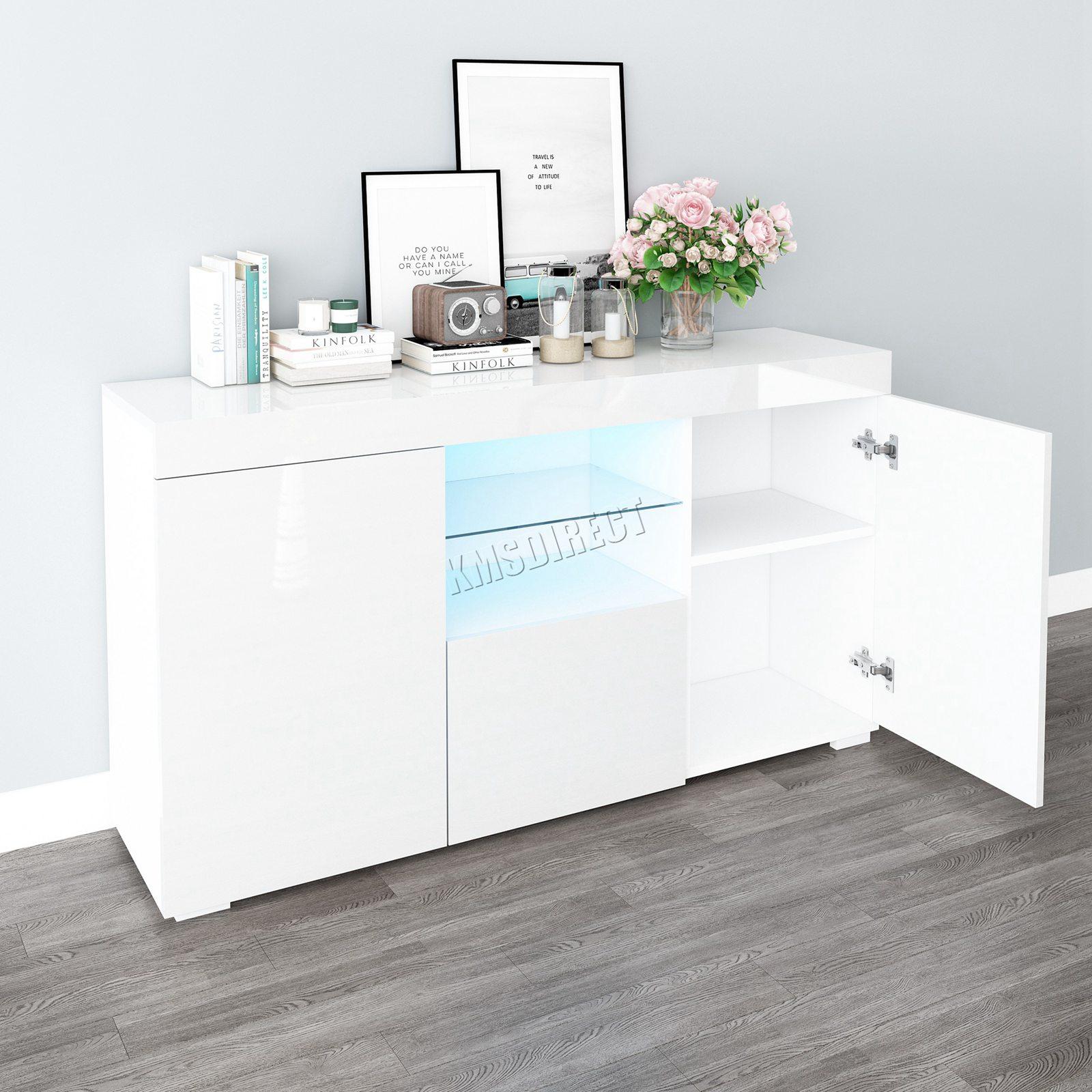 WestWood-PB-High-Gloss-Cabinet-LED-Bookshelf-Sideboard-Cupboard-Home-Unit-PHC03 thumbnail 31
