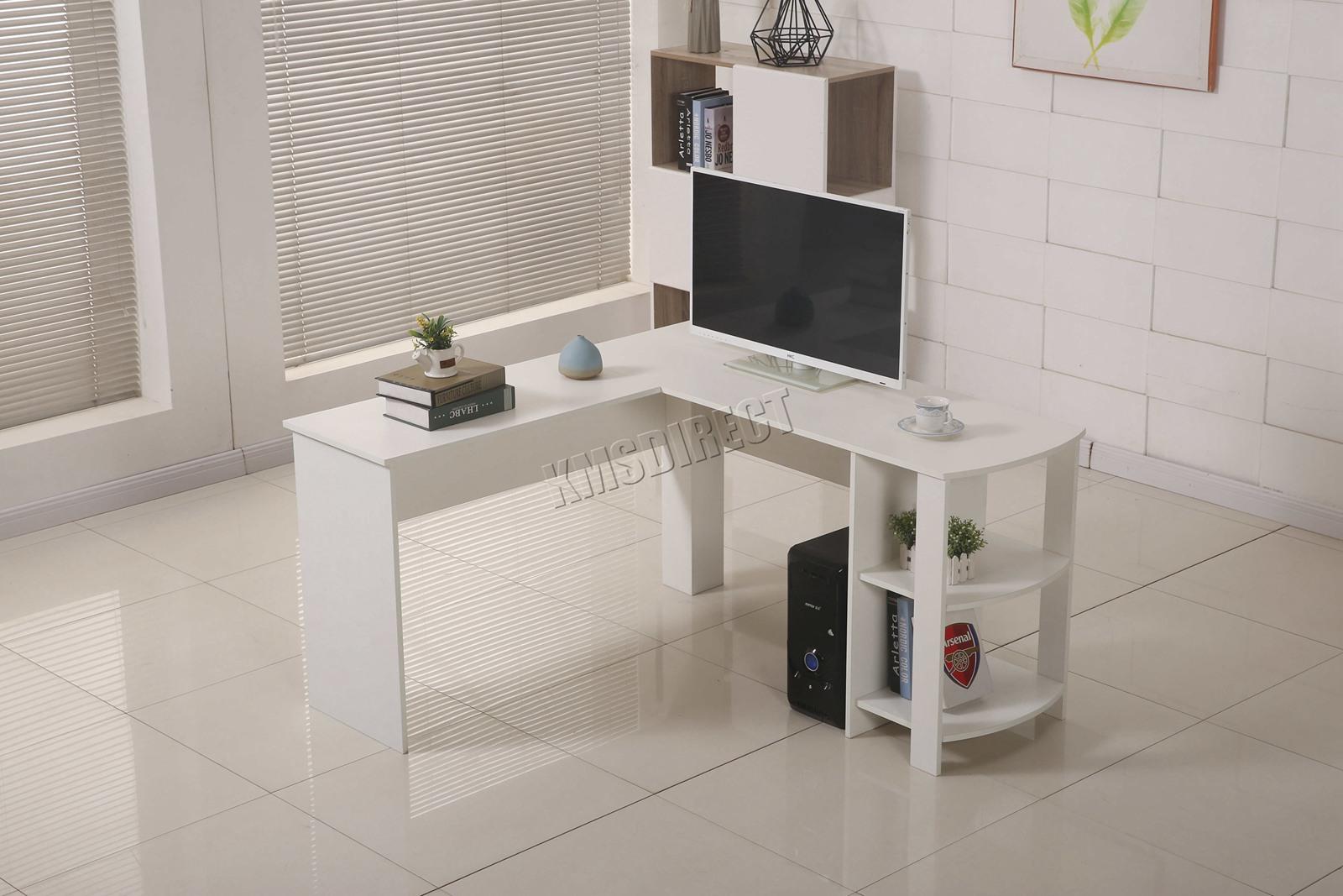 Westwood computer desk study gaming desktop pc table l shaped