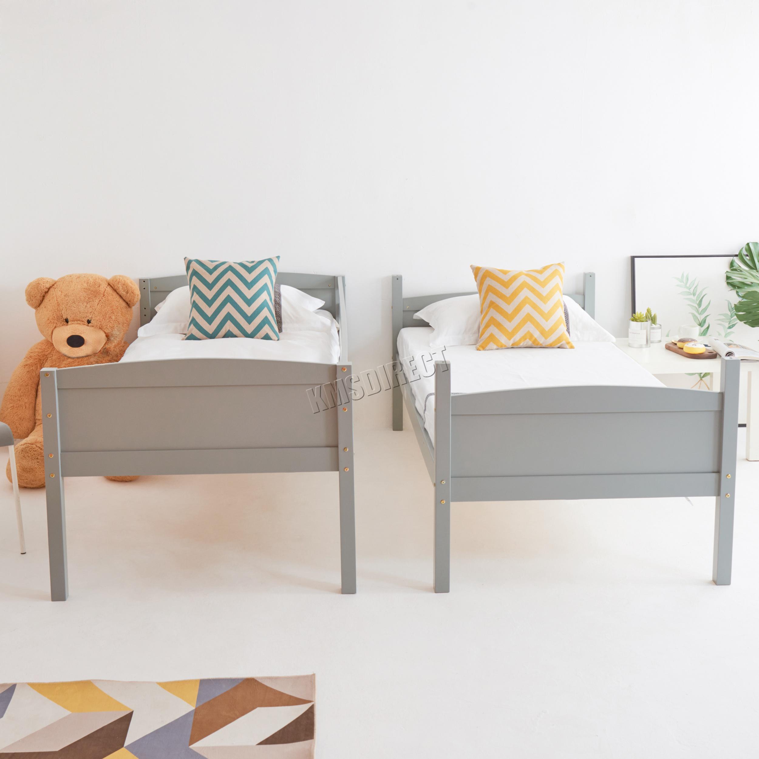 Westwood-Lit-Superpose-3FT-Bois-Cadre-en-Enfants-Dormeur-sans-Matelas-Simple