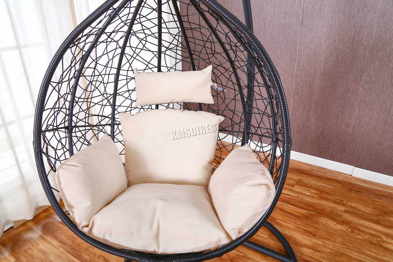 WestWood-Egg-Swing-Hanging-Chair-Hammock-Wave-With-Cushion-Rattan-Wicker-ESWR01 thumbnail 13