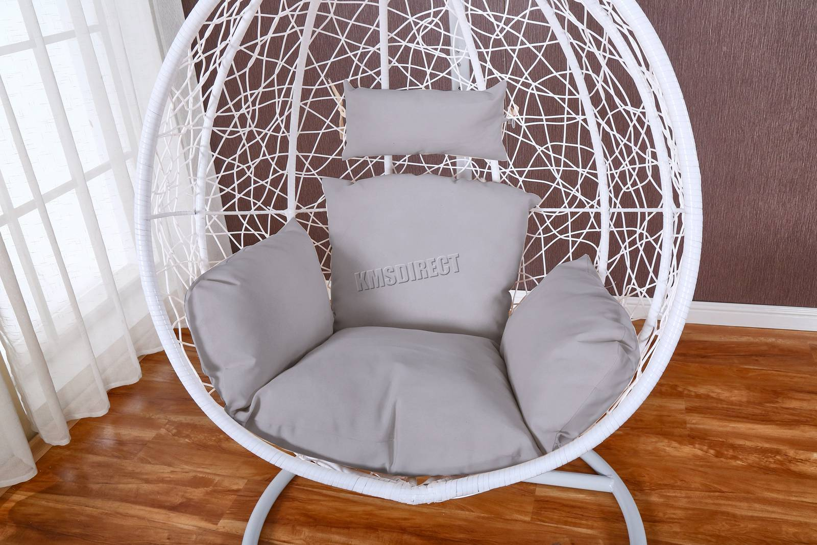 WestWood-Egg-Swing-Hanging-Chair-Hammock-Wave-With-Cushion-Rattan-Wicker-ESWR01 thumbnail 19