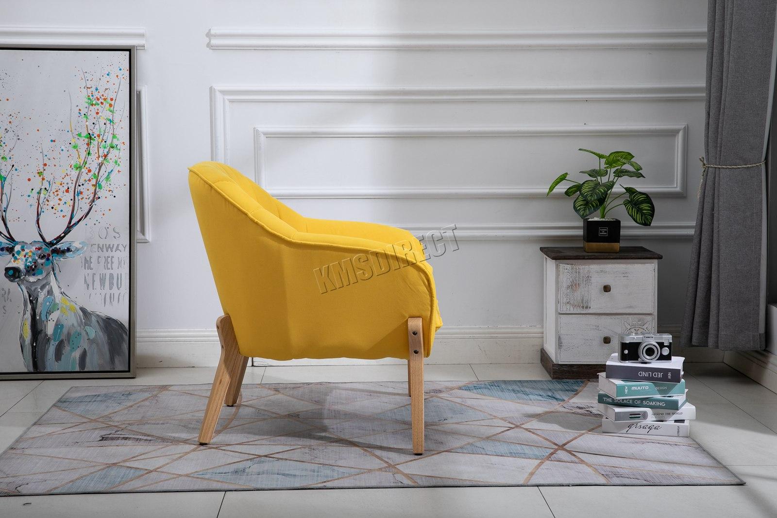 Détails sur Westwood Moderne Fauteuil Canapé Accent Simple Siège Salon  Tissu Fauteuil FA02