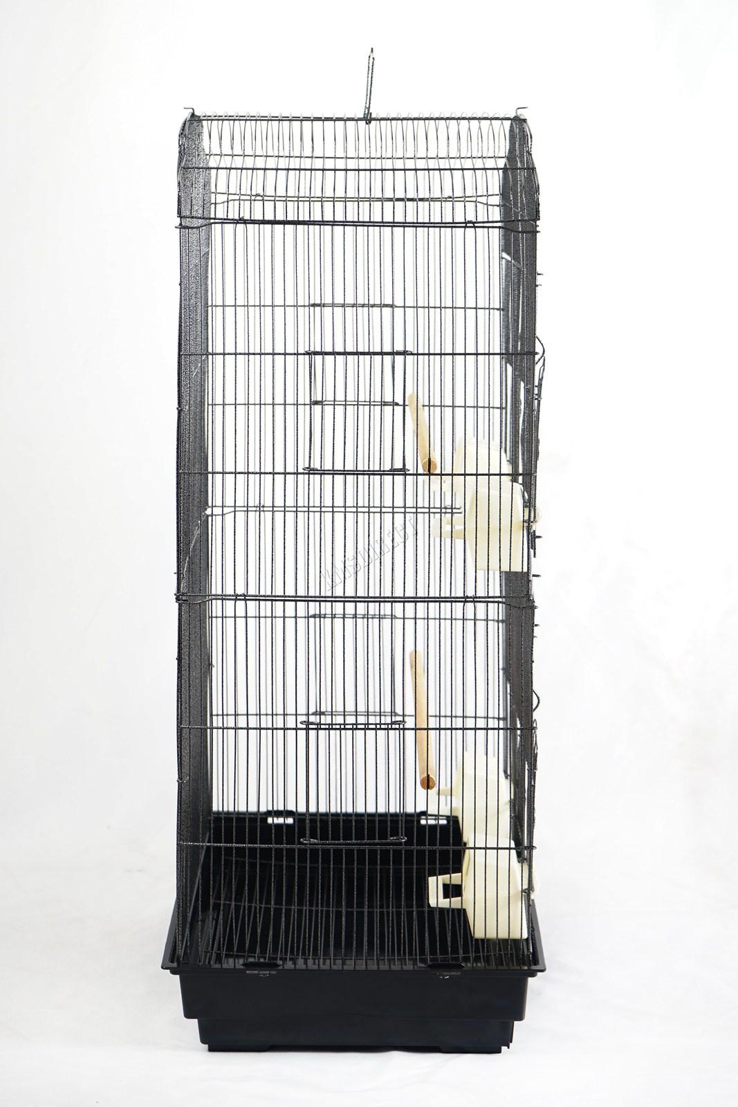 BIRD CAGE METAL MBC 05 HAMMERED SILVER KMSWM03 - Foxhunter Grande Metal Jaula con Soporte Pajarera Loro Periquito Canario Cacatua