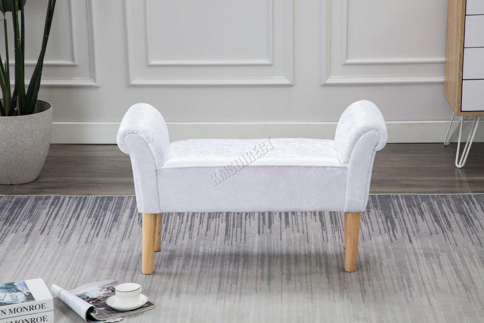 Westwood-Stoff-Bench-Fusshocker-Sitz-Pouf-Wuerfelfoermig-Polsterhocker-Schlafzimmer Indexbild 26