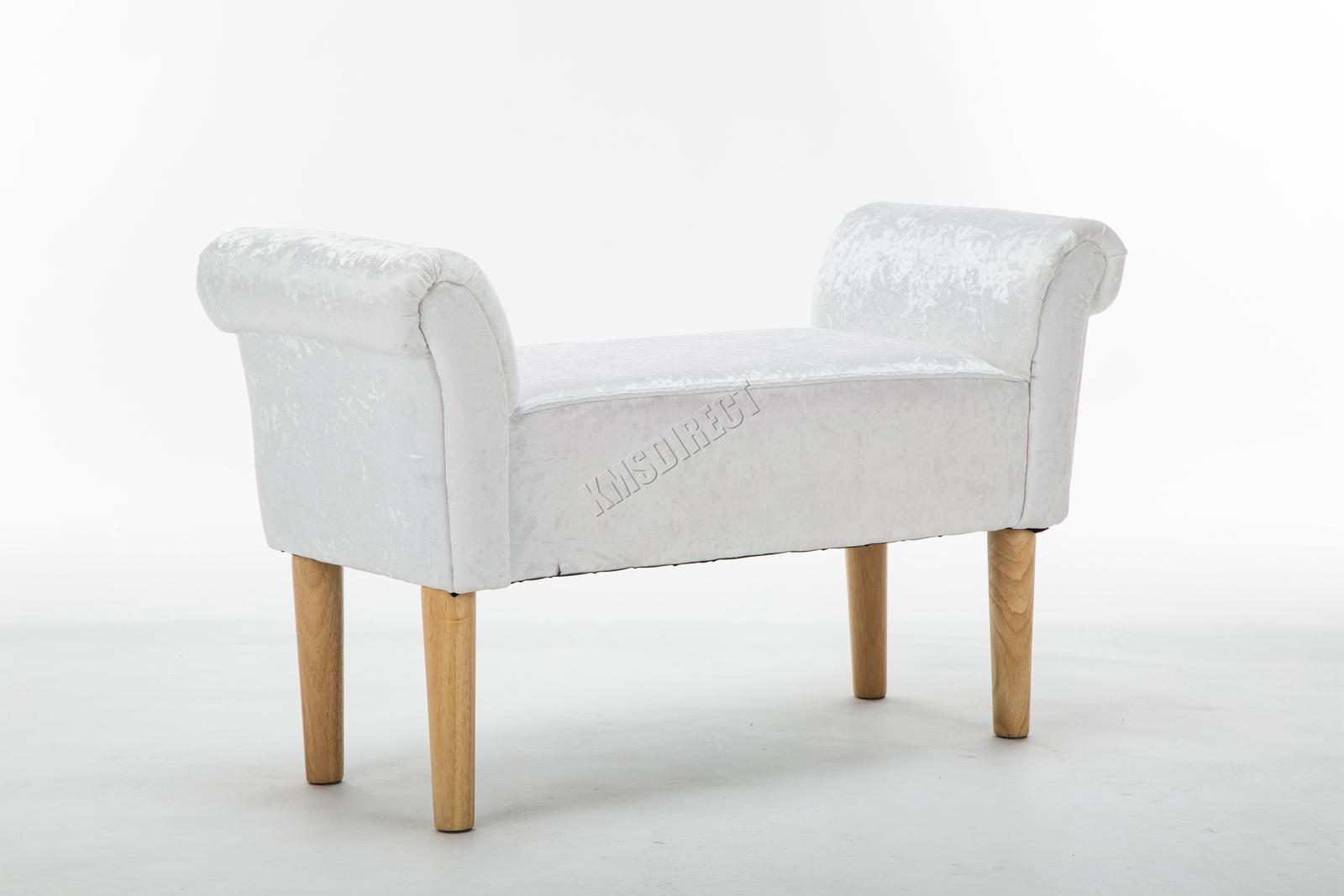 Westwood-Stoff-Bench-Fusshocker-Sitz-Pouf-Wuerfelfoermig-Polsterhocker-Schlafzimmer Indexbild 28