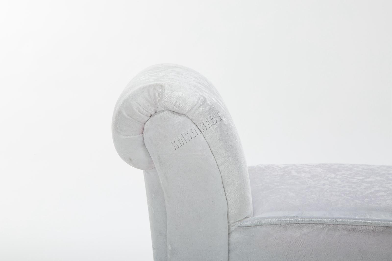 Westwood-Stoff-Bench-Fusshocker-Sitz-Pouf-Wuerfelfoermig-Polsterhocker-Schlafzimmer Indexbild 29