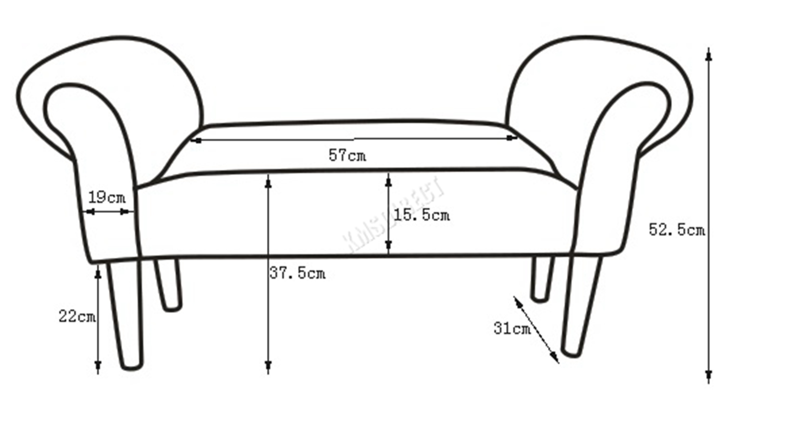 Westwood-Stoff-Bench-Fusshocker-Sitz-Pouf-Wuerfelfoermig-Polsterhocker-Schlafzimmer Indexbild 32