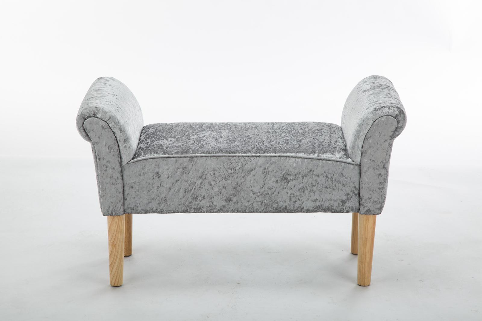 Westwood-Stoff-Bench-Fusshocker-Sitz-Pouf-Wuerfelfoermig-Polsterhocker-Schlafzimmer Indexbild 35