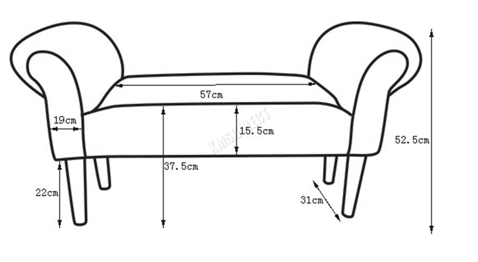 Westwood-Stoff-Bench-Fusshocker-Sitz-Pouf-Wuerfelfoermig-Polsterhocker-Schlafzimmer Indexbild 40