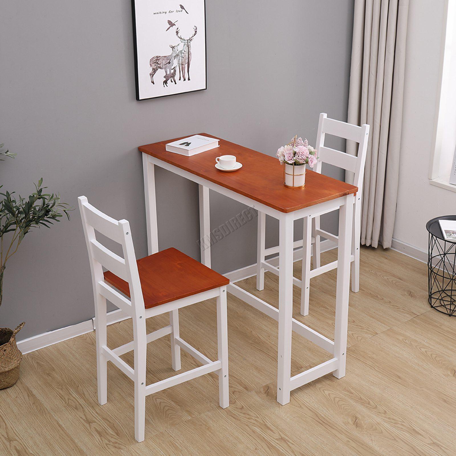 westwood breakfast bar table 2 x stools set solid pine