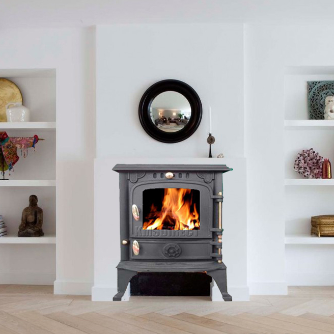 WoodBurner NEW Cast Iron Log Burner MultiFuel Wood Burning ...