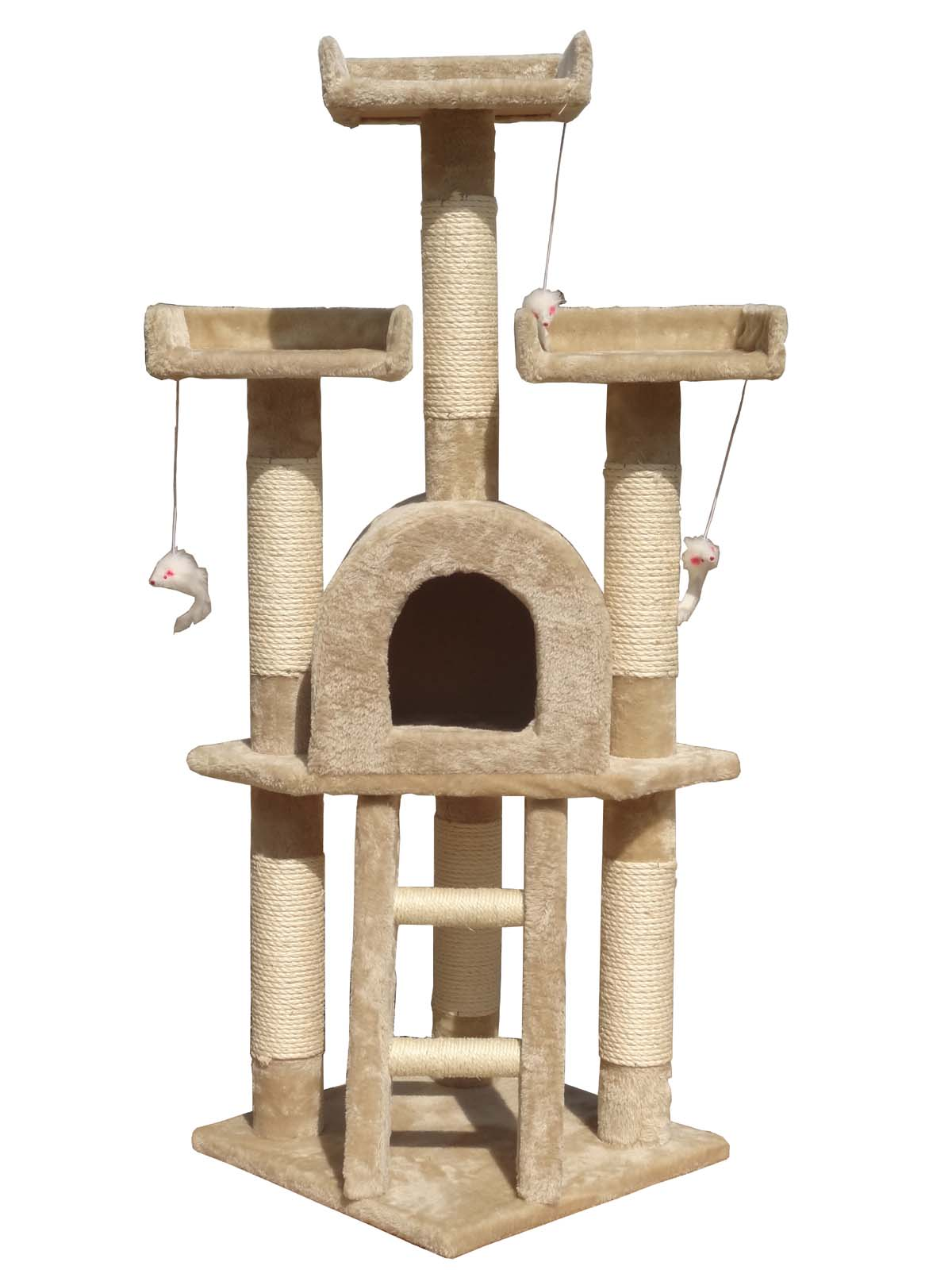 Cat Tree Scratching Post Scratch Toy Activity Centre Climbing