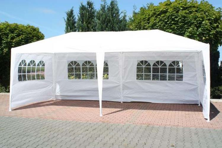 Sentinel 3m x 6m White Waterproof Outdoor Garden Gazebo Party Tent Marquee 2 SUPPORT BEAM & 3m x 6m White Waterproof Outdoor Garden Gazebo Party Tent Marquee ...
