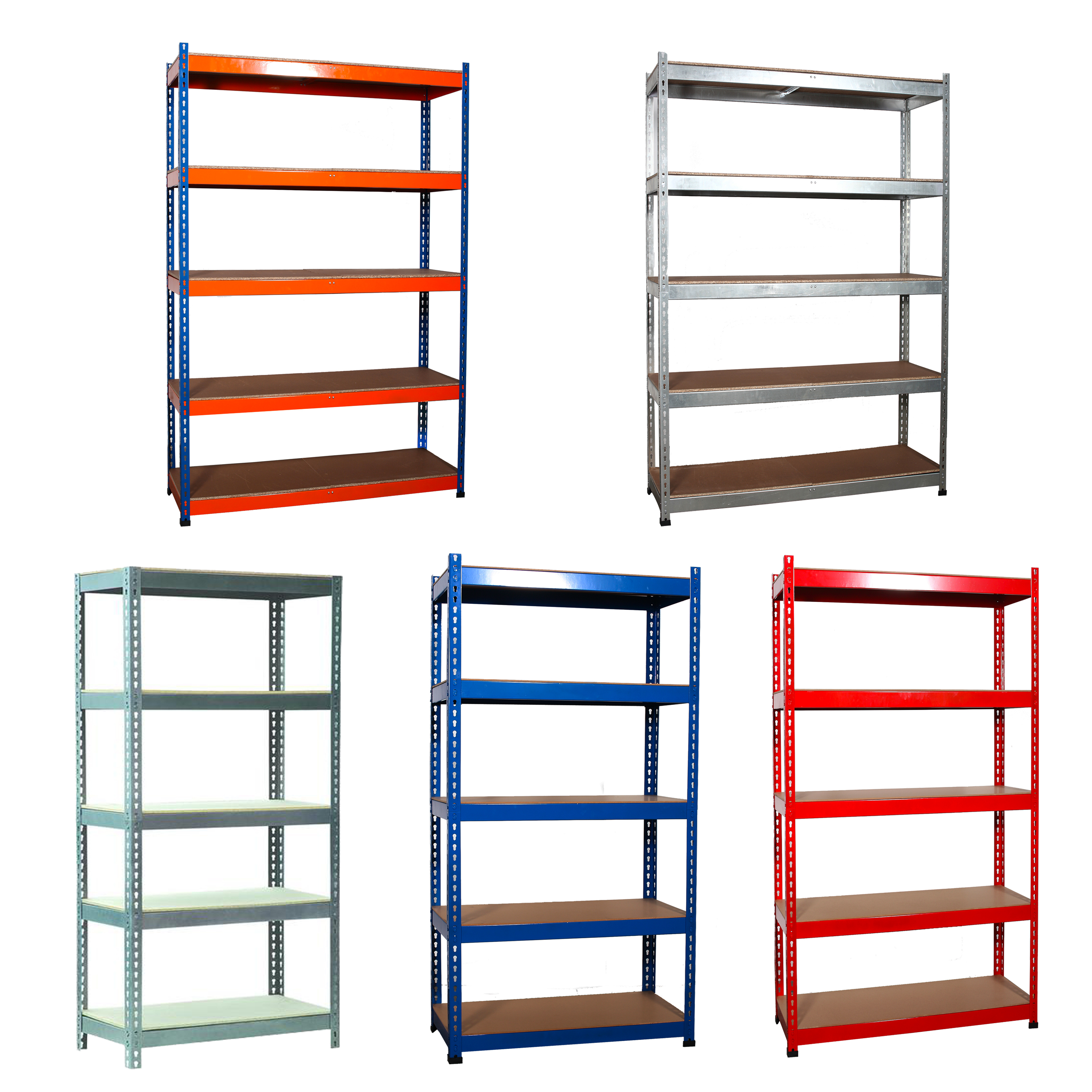steel storage shelves foxhunter 5 tier metal garage workshop warehouse shed 26782