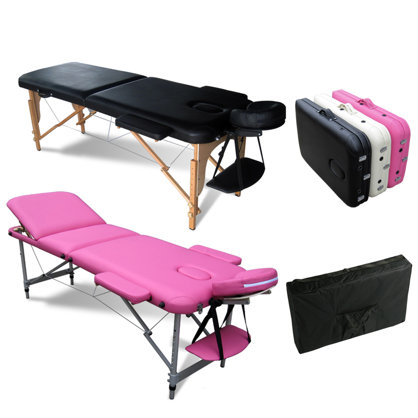 sentinel foxhunter portable folding massage table beauty salon tattoo therapy couch bed