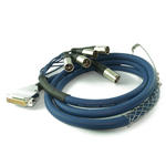 2m 25 Pin D SUB Male to 8 x XLR 3 Pin Male Plug Multicore Cable Lead - BLUE