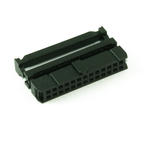 """0.1"""" 26 Way, Bump IDC Socket Connector for Flat Ribbon Cable - BLACK"""