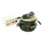 4 Port Metal AV Box with SVGA, 3.5mm Jack, HDMI & RJ45 Coupler - 5m Cables Kit