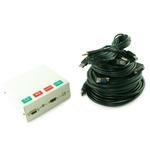 4 Port Metal AV Box with SVGA, 3.5mm Jack, HDMI & USB Coupler - 5m Cable Kit