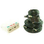 4 Port Metal AV Box with SVGA, 3.5mm Jack, HDMI & USB Coupler - 10m Cable Kit