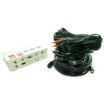 7 Port Metal AV Box with 3 RCA,SVGA,3.5mm Stereo,HDMI & USB Coupler-5m Lead Kit