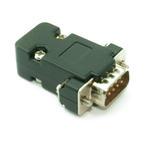 DB9 Dsub Serial RS232 Male Connector Plug inc Housing/ Hood (Solder Type)-BLACK