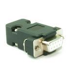 DB9 Dsub Serial RS232 Female Connector Plug inc Housing/Hood (Solder Type)-BLACK