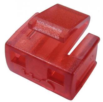 RJ45 Port Blocker 1 Lock (no key) - Prevent Data Theft - RED