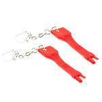 2 x RJ45 Port Blocker Keys (no locks) - Prevent Data Theft - RED