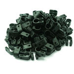 100 x Electrical Cable/ Lead/ Wire Cleat/Clip Size 15.2mm - BLACK