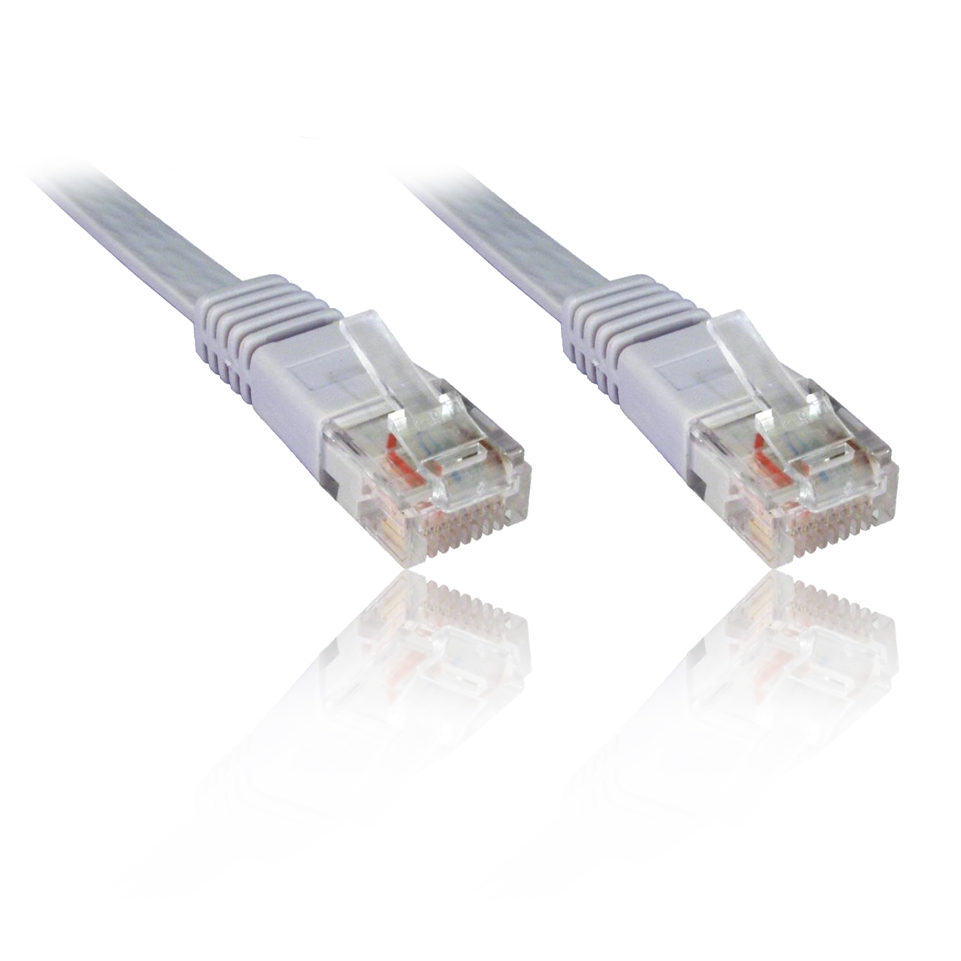 15m 50 Ft Flat Network Ethernet Cat5e Patch Cable Fly Lead