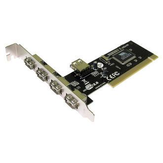 5 Port USB 2.0 Hi Speed PCI Card 4+1 Ports