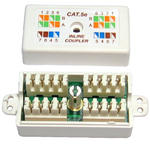 CAT 5e Cat5 Punchdown Ethernet/ Network Cable Coupler Coupler Jointer in White