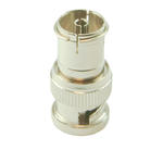 BNC Plug to Coax Female TV PAL Socket Adapter/Converter, use with CCTV Cameras