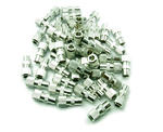 50 x Female Coax/ Coaxil TV Aerial Connector Plug for RF Cable/ Freeview - Metal