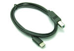 1m 3'ft USB 2.0 Type C Male to Type B Male Cable Wire Lead - BLACK