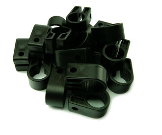 10 x Electrical Cable/ Lead/ Wire Cleats/Clips Sizes 9 -22.8mm - BLACK